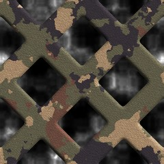 Camouflage grate. Seamless background.