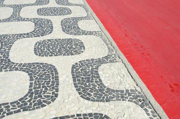 Ipanema Beach Rio de Janeiro Boardwalk Red Bike Path
