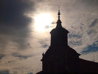 Kirche erleuchtet
