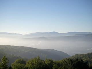 Nebel über dem Rheintal bei Grenzach