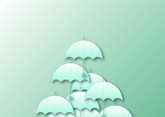 梅雨 rainy season 傘 umbrella