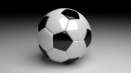 soccer ball on a dramatic gradient background