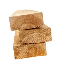 Isolated wood 2x4 studs