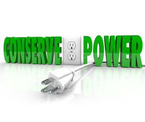 Conserve Power Electrical Cord Plug Save Energy Conservation