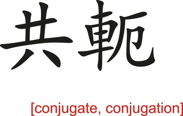 Chinese Sign for conjugate, conjugation