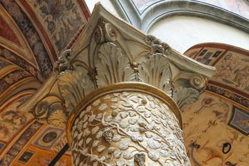 Frescoes decorating the courtyard Palazzo Vecchio. Florence, Ita