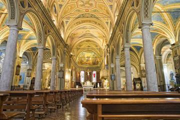 medieval church internal view