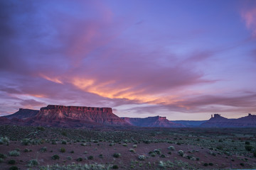 Castle Valley at Sunset, Moab Utah route 128