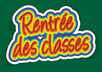 Rentrée des classes - sticker