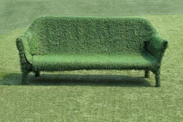 eco style of interior decoration the grass sofa