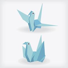 Vector of Paper Birds