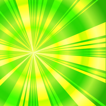 green and yellow burst background