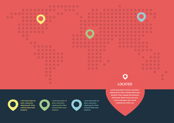 Map info graphic elements