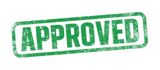 Fototapeta Approved green ink stamp