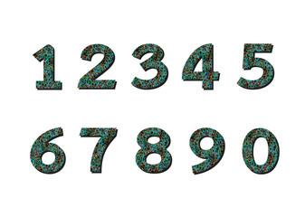 Numbers set. illustration