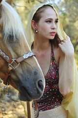 Young lady with horse
