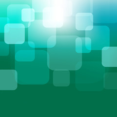 abstract dark green blue background with transparent squares