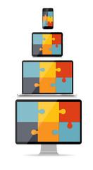 Fully Responsive Web Design Concept Vector Illustration
