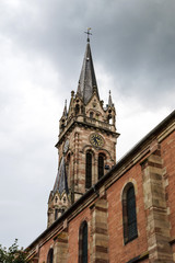 Old medieval church in Alsace