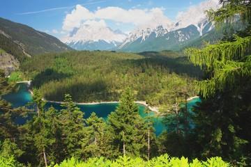 Fernpass, view of the Zugspitze, Austria