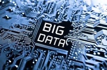 Data concept: circuit board with word Big Data