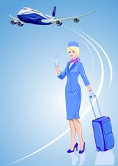 Stewardess, air hostess