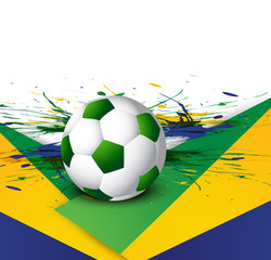 Beautiful texture background in Brazil flag concept soccer illus