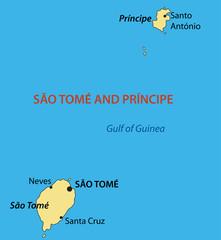 Democratic Republic of Sao Tome and Principe - vector map
