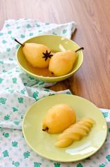 pear stewed in citrus juice