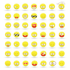 Set of Emotions vector cartoon