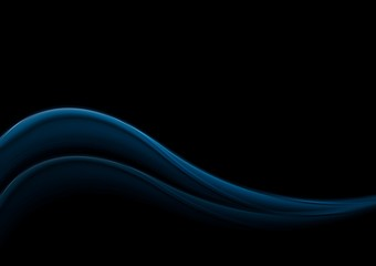 Dark blue smooth waves