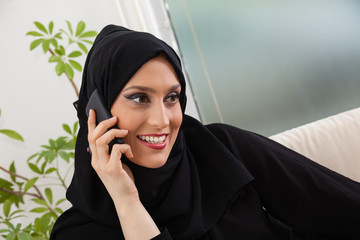 Arabic Woman With Smartphone