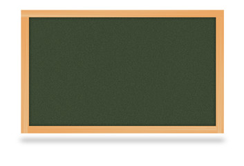 Chalkboard wood billboard