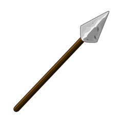 spear isolated illustration