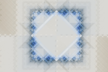 Abstract symmetric pattern with squares and triangles
