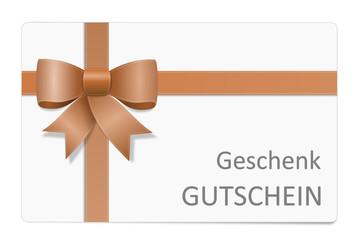 Karte Schleife Geschenk Gutschein