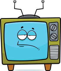 Tired Retro Cartoon Television