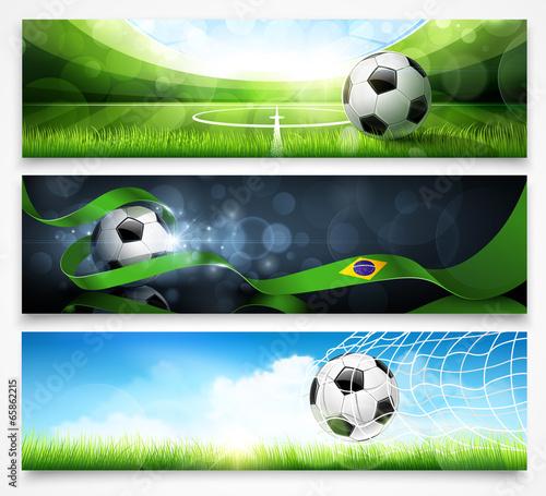 """Set of football banners. Vector"" Стоковое изображение и роялти-фри векторный файл на Fotolia.ru - Pic 65862215"
