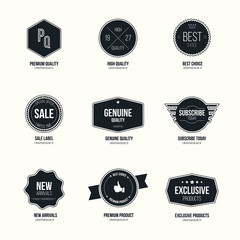 Set of retro minimalistic  badges and labels