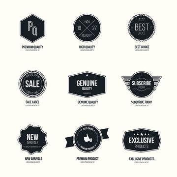Set of retro minimalistic  badges and labels
