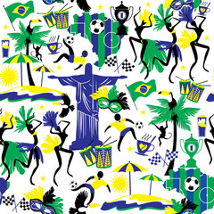 Brazil background. Seamless pattern