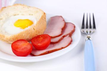 Tasty breakfast, close-up
