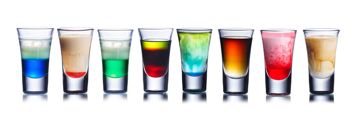 Colorful shot drinks