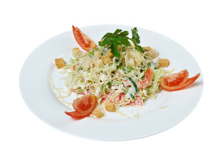 Caesar salad prepared