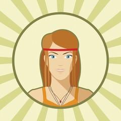 Single vector woman avatar.