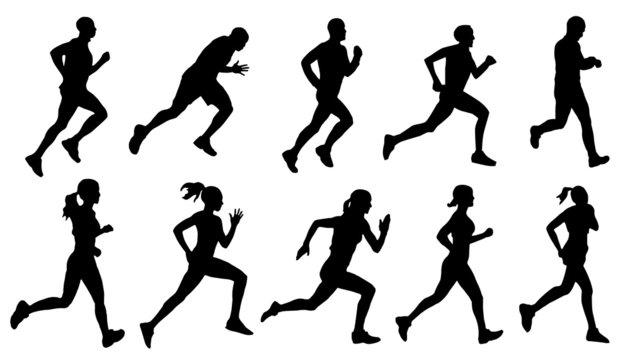 run silhouettes
