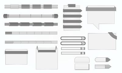 Fototapeta Elementy graficzne strony internetowej - szare, srebrne obraz
