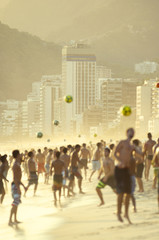 Carioca Brazilians Playing Altinho Beach Football