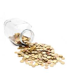 Ausgeschüttete Münzen