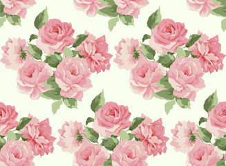 Beautiful Seamless peony pattern